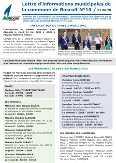 Lettre hebdomadaire d'informations n°10