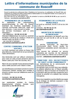 Covid-19/Lettre d'informations N°1