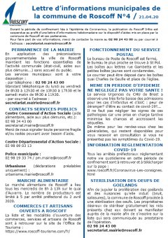 Covid-19/Lettre d'informations N°4
