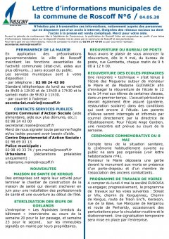Lettre hebdomadaire d'informations N°6